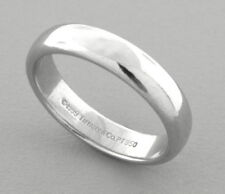 TIFFANY & CO. PLATINUM 4.5mm WEDDING BAND RING SIZE 8 WITH POUCH
