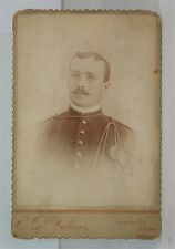 1890 INDIAN WAR 7th CAVALRY TROOPER CABINET CARD PHOTO IDENTIFIED WOUNDED KNEE