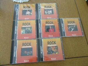 "Lot N°1  de 7 CD  "" les génies du ROCK ""  éditions ATLAS  voir les photos"