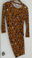 PHILLIP LIM FOR TARGET RUCHED LEOPARD ANIMAL PRINT COTTON STRETCH DRESS~SMALL