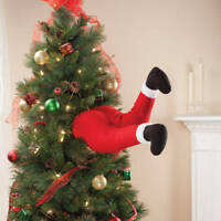 35cm Christmas Tree Large Bendy Stick Out Santa Legs Decoration Novelty Elf