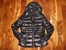 NWT Womens ANDREW MARC Black Hooded Puffer Duck Down Jacket Coat Sz M Medium