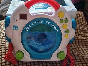 a) Kid's com  Happy people  sing a long  CD Player mit Mikrofon  neu