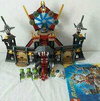 Atlantis LEGO 8078 Portal of Atlantis 99% Complete + Instructions ~ Great Set