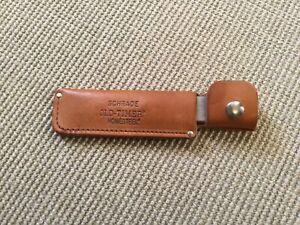Vintage Schrade Old Timer Honesteel Knife Sharpener Tool Leather Sheath