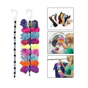 Colourful Sock Organizer Easy Clips & Locks Paired Socks SockDock Ties Divider