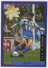 Panini 1996 Estrellas Europeas Spanish Issue Card Djukic R.C.D. De La Coruna