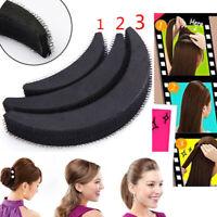 3Pcs Hair Volume Increase Puff Sponge Pad Bump Up Insert Base DIY Updo Styling