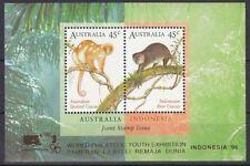 Australie 1996 koala   austr-indonesie  opdruk indonesie96  blok   postfris/mnh