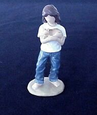 """Forever in Blue Jeans """"Caring"""" Figurine by Westland Giftware #18413 Cat"""