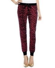 Juicy Couture Red Cordial Uptown Leopard Modern Slim Pants - BNWT £116 - Size XL