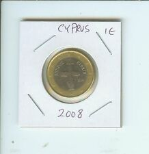 2008 CYPRUS 1€  1-€  1 Euro Bimetallic Coin  !!