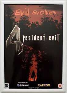 Resident Evil 4 RARE Gamecube 42cm x 59cm Promotional Poster #1