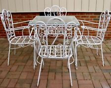 c.1940s-50s Five-Piece French Wrought Iron Patio Dining Set for Four