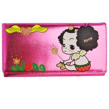 Porte monnaie portefeuille pour fille rose corréen Ddung paillettes coeurs