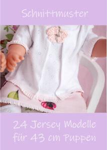 24 Jersey Modelle für 43 cm Puppen Schnittmuster Nähanleitung PDF Download