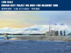 NAVY PROJECT 955 BOREI-YURI DOLGORUKY SSBN 1/350 ship Trumpeter model kit 83520