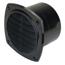 Air Vent 75mm Flush Mount Hose Tail for Blower Hose Ducting Air Vent Boat Black