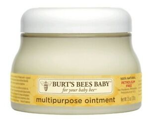 (Lot of 4) Burt's Bees Baby 100% Natural Multipurpose Ointment Face & Body 7.5oz
