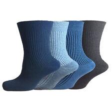 12 Pairs Mens Non Elastic Mix Socks 100% Cotton Loose Soft Top Loose Grip 6-11