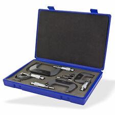 Mikrometer Bügelmeßschraube Micrometer Messschraube Set 4-teilig im Koffer