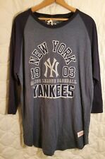 Mitchell & Ness New York Yankees Shirt XL 3/4 Sleeve NWT Cooperstown Collection