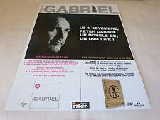 PETER GABRIEL - !!!!GROWING UP!!!!!! PUBLICITE / ADVERT