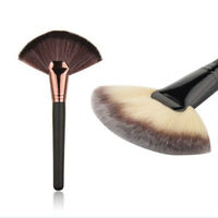 Fan Shape Cosmetic Brush Blending Highlighter Contour Face Powder Make up Tools