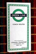 More details for london transport green line coach map nov 1952  1152/2362d 100,000
