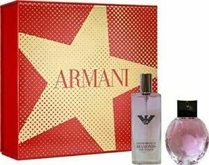 EMPORIO ARMANI DIAMONDS ROSE GIFT SET EAU DE TOILETTE 50ML & 15ML TRAVEL SIZE