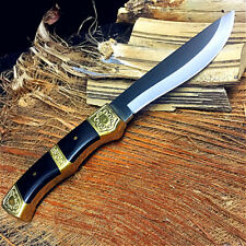 Collectible Fixed Blade Handmade Knife Hand Forged Steel Tactical Survival Leaf