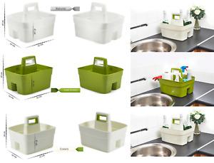 Plastic Handy Basket Kitchen Caddy Storage Tray Handle Tidy Organiser Cleaning