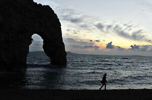 Sunset Over the Beach at Durdle Door in Dorset England Poster 61x91.5cm