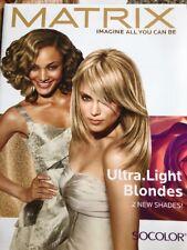 Matrix Color Ultra Light Blondes SOColor  information Paper Swatch Chart