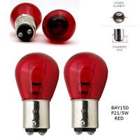 P21/5W BAY15d 380 RED Stop Brake/Tail Car Light Bulbs UK EU ROAD LEGAL