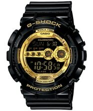 Casio G-Shock Digital Mens Black X Gold Series Watch GD100GB-1 GD-100GB-1DR