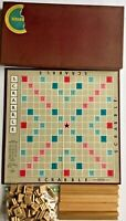 Scrabble Crossword Board Game 1948-1953 Selchow & Righter Complete Wood Tiles