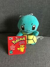Pokemon # 07 Squirtle Very Rare 90's Hasbro Plush with original tags.