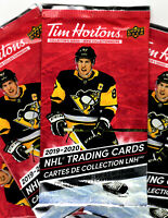 2019-20 TIM HORTON'S COLLECTOR'S SERIES HOCKEY CARDS - 1 SEALED PACK (3 CARDS)