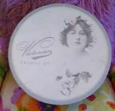 Vintage Large Victorian Trading Co Hat Box Storage Wig Shabby with Corded Handle