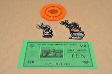 Harley Davidson Buell Dealer Key Chain Magnet Coaster Lot Northwoods Michigan
