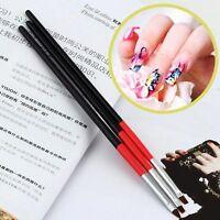 3Pcs Nail Art Drawing Painting Set Tool Brushes Design UV Gel Acrylic Brush Pens