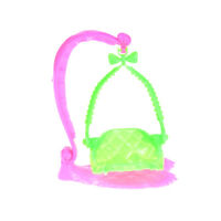 Plastic Swing Chair  For Doll Dollhouse Miniature Furniture Doll HouseKTPWF
