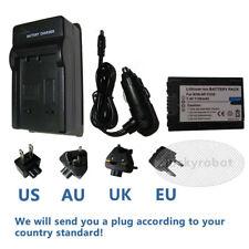 Battery + Charger for Sony Handycam DCR-SX33 SX34 NP-FV50 DCR-SR58E NP-FV70