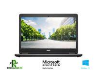 "Dell Laptop i7 14"" Display Latitude E7440 8GB 256 SSD Solid State Windows 10 Pro"