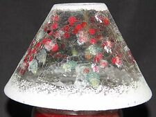Yankee Candle Snowberry Crackle Christmas/Winter Glass Shade