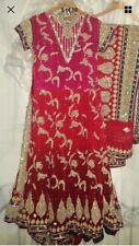 RDC Lengha Lehenga Asian Bridal Indian Pakistani Dress Sharara Garara Uk 8-10