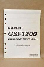 2001 Suzuki Bandit GSF1200 K1 Supplementary Supplement Service Manual