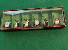 Pier 1 Imports NEW Penguin Holiday Drink Wine Charms NEW in Box 6 Drink Glass