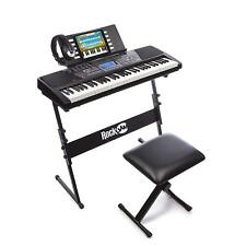 RockJam 561 Electronic 61 Key Digital Piano Keyboard SuperKit with Stand Stool